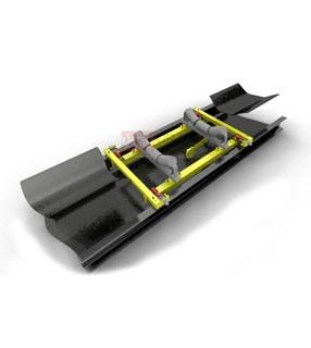 Ikki tenzodatchik bilan ikki rollikli tayanchlardagi VNKA konveyer tarozilari (2+2×2)
